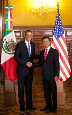 Official picture of Obama´s visit to Peña Nieto in Mexico