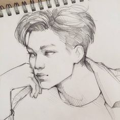 Fan art of Kim Jong-in (김종인) also known mononymously as Kai (카이) of EXO (엑소). || Credit goes to Bearbrickjia.