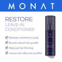 #Monat Restore Leave-in conditioner. Learn more at http://kimwalden.mymonat.com