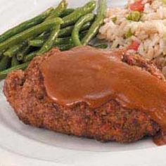 Salisbury Steak via Taste of Home