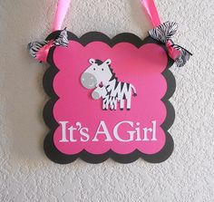 Love this for Amelia's room, really hope to do it all in zebra print with pink(: Zebra Baby Showers, 2nd Baby Showers, Baby Shower Fun, Girl Shower, Baby Shower Themes, Shower Ideas, Baby Zebra, Pink Zebra, Zebra Print Rug