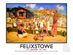 Felixstowe, It's Quicker by Rail Giclee Print by W.r.s. Stotto at Art.com