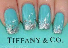 Tiffany ombré glitter.