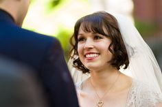 Let your photographer get along the sides of your wedding party to capture beautiful reaction shots to your vows being read. Whitney and Andrew's wedding at the Multicultural Arts Center took us to Mars and Back » Fucci's Photos of Boston | Boston Wedding Photograp...