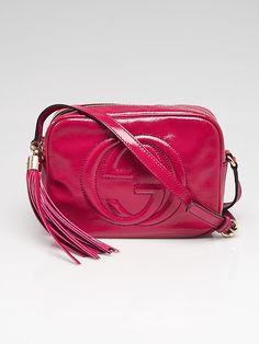 0276a509f9527 Gucci Fuchsia Patent Leather Soho Disco Small Shoulder Bag