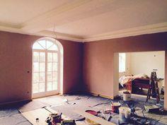 Wohnzimmer mit Farbe