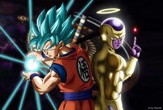 GOKU SUPER SAYAJIN BLUE-GOLDEN FREEZER