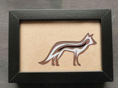 Framed Original Fox Paper-cut Artwork via The Red Corvid Art, £45.00. http://theredcorvidart.tictail.com/product/framed-original-fox-paper-cut-artwork ~ Click through for more info ~