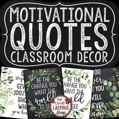 You will love using these Inspirational Posters & Motivational Quote Posters! These can be so inspiring to students! Hang these beautiful Traditional Classic Theme Posters in your room! They are classy and simple that they compliment MANY classroom themes!
