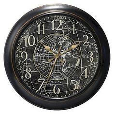 World Map Decorative Clock : Target Mobile