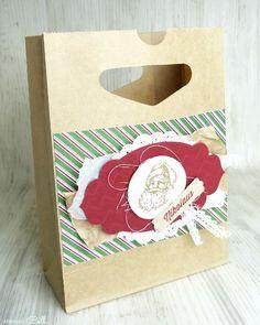 Nikolaustüte, Geschenktüte aufgehübscht, Nikolaus, christmas, Present, stampin up!