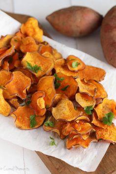 Baked Sweet Potato Chips   www.AfrikozSpices.com.au