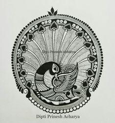 Colorful bird pattern doodles Ideas for 2019 Mandala Art Lesson, Mandala Artwork, Mandala Painting, Doodle Art Drawing, Mandala Drawing, Art Drawings Sketches, Peacock Drawing, Peacock Art, Madhubani Art