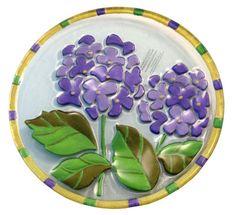 Hydrangea Glass Fusion Plate by Lori Siebert  $25.95