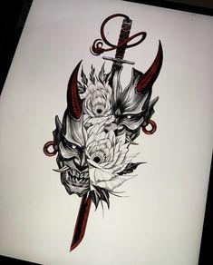 Japan Tattoo Design, Tattoo Design Drawings, Tattoo Sleeve Designs, Tattoo Sketches, Tattoo Designs Men, Warrior Tattoos, Viking Tattoos, Leg Tattoos, Body Art Tattoos