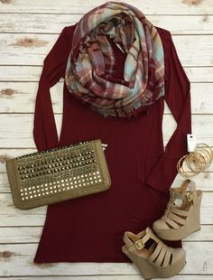 Easy Does it Dress: Burgundy from privityboutique