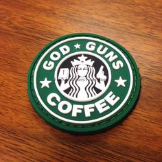 God, Guns, and Coffee PVC Morale Patch - Fenix Outfitters