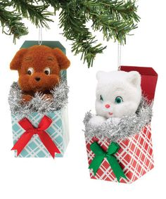 Another great find on #zulily! Pets in Box Ornament Set #zulilyfinds