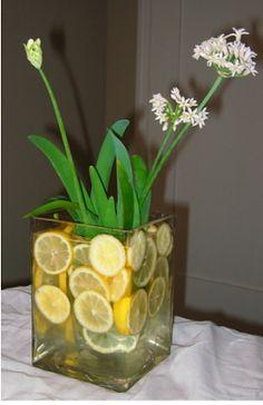 la decoración de mis mesas: Ideas para la Mesa: Un centro de flores y limas