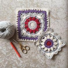 Transcendent Crochet a Solid Granny Square Ideas. Inconceivable Crochet a Solid Granny Square Ideas. Crochet Flower Squares, Crochet Squares Afghan, Crochet Blocks, Granny Square Crochet Pattern, Crochet Mandala, Crochet Stitches Patterns, Crochet Granny, Crochet Motif, Crochet Doilies