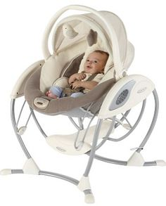 Graco Elite Gliding Swing - a glider that pops off to be a stand-alone, portable bouncer
