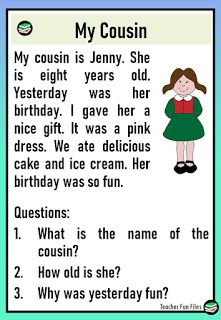 Reading Passages about Family | Comprehension Questions
