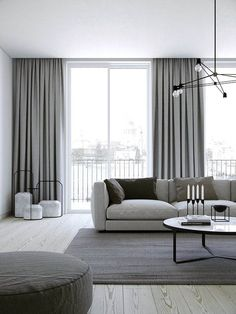 Creative ways beautiful classy living room design and decor ideas 18 – fugar Modern Room, Home Curtains, Curtains Living Room, Living Room Decor Curtains, Curtains Living, Blue Bedroom Decor, Classy Living Room, Living Room Grey, Living Decor