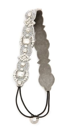 Deepa Gurnani Ivory Crystal Headband | SHOPBOP