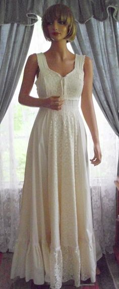 Gunne Sax by Jessica McClintock | Muslin & Lace Gunne Sax Dress {It's my senior prom dress!}