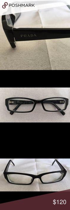 Authentic Prada Glasses Prada Eyeglasses Black Frame Men or Women Unisex Designer Rx 52/16-135 Prada Accessories Glasses