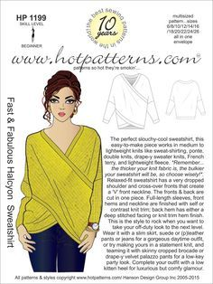 Hot Patterns Fabulous Halcyon Sweatshirt