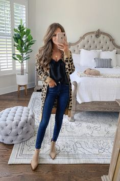 Leopard cardigan Nordstrom Anniversary Sale is part of Fashion - Cute Fall Outfits, Fall Winter Outfits, Autumn Winter Fashion, Trendy Outfits, Fashion Outfits, Fashion Trends, Work Outfits, Fashion Ideas, Fashion Tips