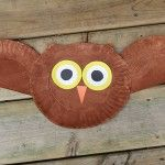Owl crafts are just too cute to resist. This super easy owl craft is great for young children, even the youngest of little ones can help if a grown up cuts out the pieces for them! Make this fun paper plate owl with your kids today. Paint the paper plates brown and let dry. You can download the