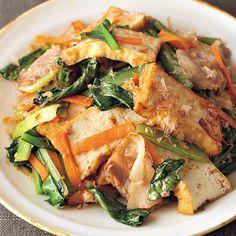 厚揚げと小松菜のおかか炒め | 伊藤朗子さんの炒めものの料理レシピ | プロの簡単料理レシピはレタスクラブニュース
