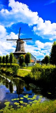 There really are windmills in  Holland- August 2013