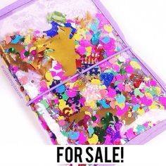 Beautiful custom confetti filled dori! Brand new! $40 shipped! Will include star charm and extra goodies!