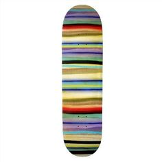 Skateboard Design. I like how this looks like layers of earth! I'm not sure what color wheels would match though!
