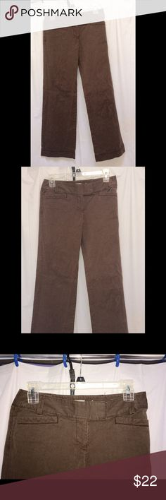 LOFT Chocolate BROWN Lowrise pants 0P New Hip Light-weight Low rise slacks/pants MAKES UR LIL' BOOTY POP!  Wide leg- 2 Front pockets, 2 back pockets Zipper and 2 hook closure + inside button Subtle dark brown and tan pinstripes & cuff detail on the bottom Purchased for $50 (:( bought wrong size) Priced to sell! Downsizing!! LOFT Pants Wide Leg