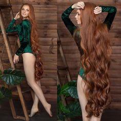Really Long Hair, Long Red Hair, Dark Hair, Undercut Long Hair, Red Hair Woman, Redhead Models, Beautiful Red Hair, Rapunzel Hair, Long Hair Video
