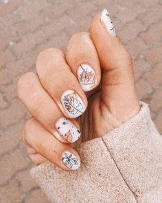 Nail Art Cute, Cute Nails, Pretty Nails, Hair And Nails, My Nails, Brown Nail Art, Manicure E Pedicure, Minimalist Nails, Stylish Nails