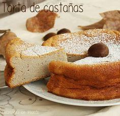 Pastel de castañas Mexican Food Recipes, Healthy Recipes, No Bake Cake, Deli, Amazing Cakes, Cake Recipes, Bagel, Food And Drink, Sweets