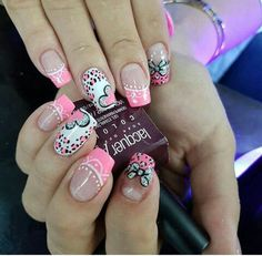 Cute Nail Art Ideas to Try - Nailschick Purple Nail Designs, Simple Nail Art Designs, Love Nails, Pretty Nails, Nails For Kids, French Tip Nails, Best Acrylic Nails, Cute Nail Art, Fabulous Nails