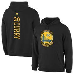 Men's Golden State Warriors Stephen Curry Black Backer Pullover Hoodie