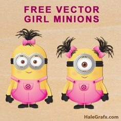 girl minion vectors FREE Vector Despicable Me Girl Minions