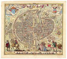 """""""Portrait naturel de la ville de Parisy"""" 1576"""