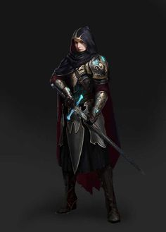 f Paladin Royal Constable hilvl Plate Armor Cloak Sword urban City undercity underdark story Adventure Fantasy Dungeons And Dragons Characters, Dnd Characters, Fantasy Characters, Female Characters, Fantasy Character Design, Character Inspiration, Character Art, Rogue Character, Fantasy Inspiration