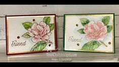 Easy Water Coloring-Video Tutorial ⋆ Tina Wardell~Stampin' Up! Magnolia Stamps, Stamping Up Cards, Rubber Stamping, Stampin Up Catalog, Magnolia Flower, Card Tutorials, Sympathy Cards, Greeting Cards, Flower Cards