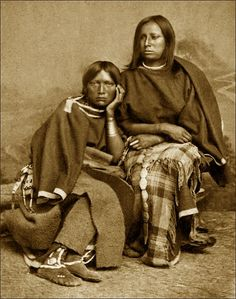 Comanche women. Photo by W. P. Bliss, Portrait and View Photographer, ca. 1870s. Part of the Lawrence T. Jones III Texas photography collection. Series 7: Stereographs.
