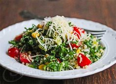 Quinoa Kale Tomato Corn Salad Recipe {Video + Giveaway} - Jeanette's Healthy Living