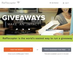 Rafflecopter is an amazingly easy tool to run raffles & giveaway contest via social media. Participants can get extra entries by share the contest via social media! Referral jackpot :) Check them out. https://www.rafflecopter.com/
